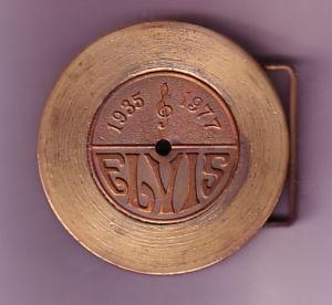 Elvis Brass Belt Buckle $25
