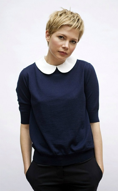 Michelle Williams--makes me want to cut my hair off again.