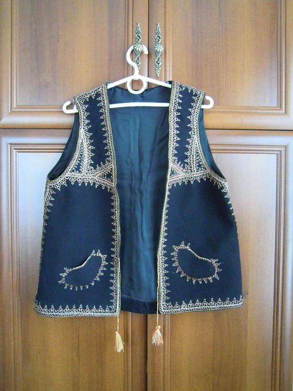 Sleeveless Shirt Hutsul Vest Kiptar Ukrainian Folk Coats Without Sleeves Embroidered Vest Traditional Ukrainian Antique Clothing Chalecos Mangas Telas