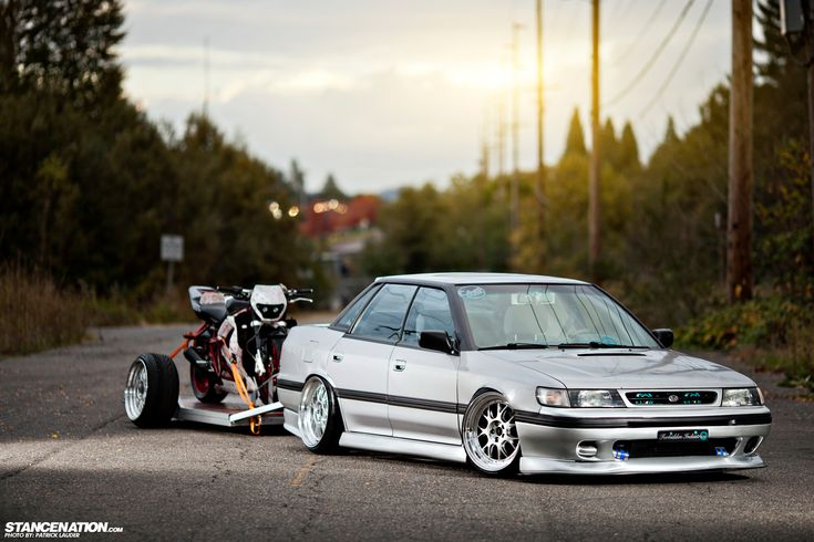 Slammed Boosted Subaru Legacy from Portland