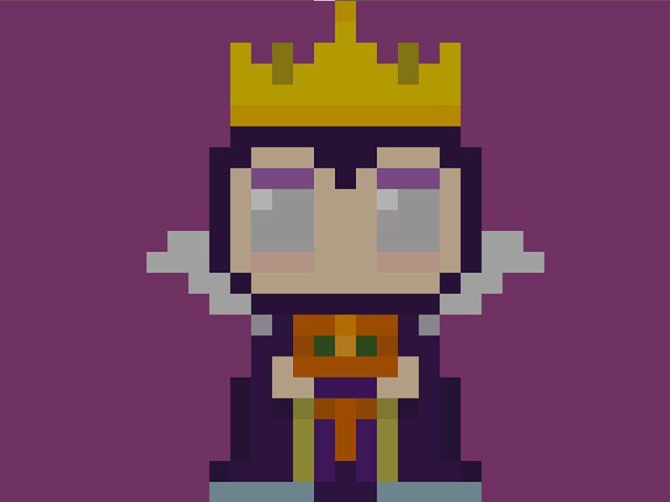 pixel art queen