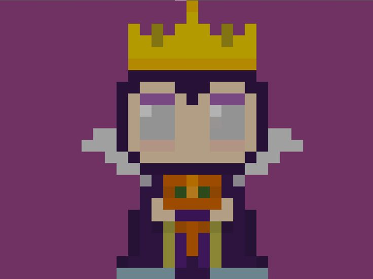 """Famous Characters in Pixel Art • The Evil Queen Grimhilde from """"Snow White and the Seven Dwarfs"""" • Biancaneve e i Sette Nani #theevilqueen #evilqueen #snowwhite #snowhite #prince #theprince #secendwarfs #disney #pixels #pixel #pixelart #16bit #biancaneve #principe #ilprincipe #settenani #nani #apple #grimhilde"""