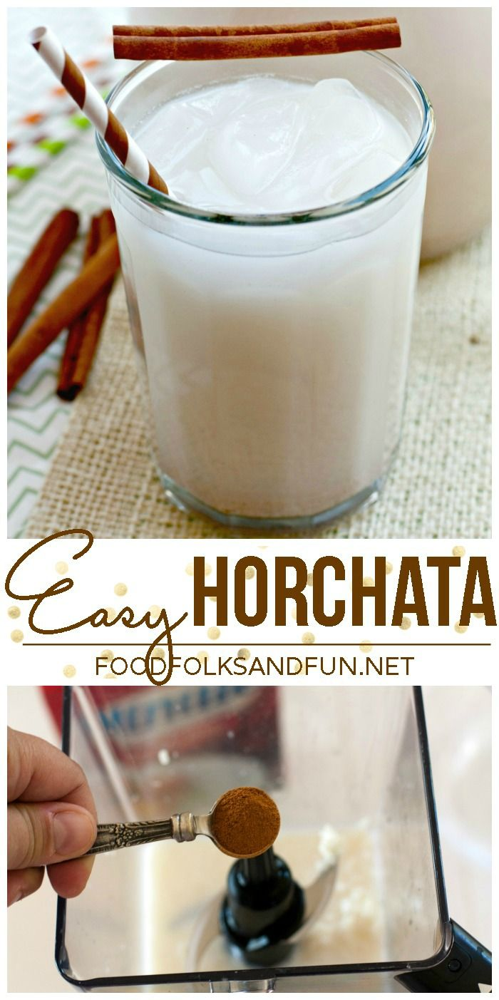 Easy Horchata Recipe that uses Minute Rice! It's ready in 20 minutes and perfect for #cincodemayo!