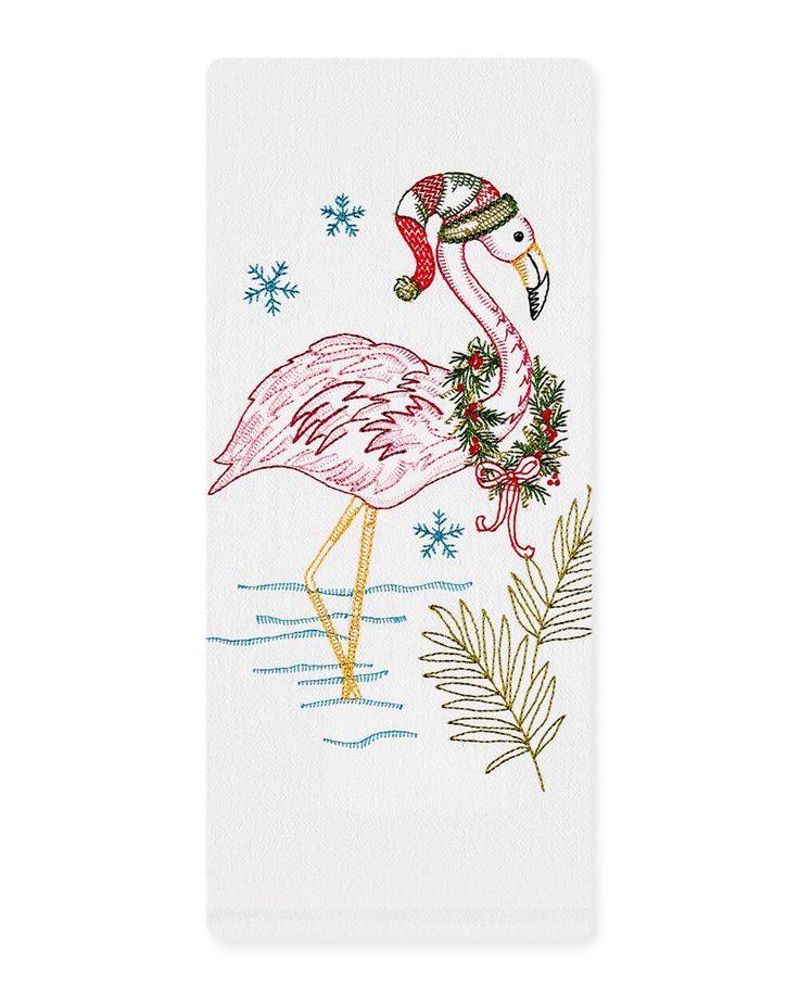 Kay Dee Designs Christmas Flamingo Flour Sack Towel | Kitchen Towel | cotton