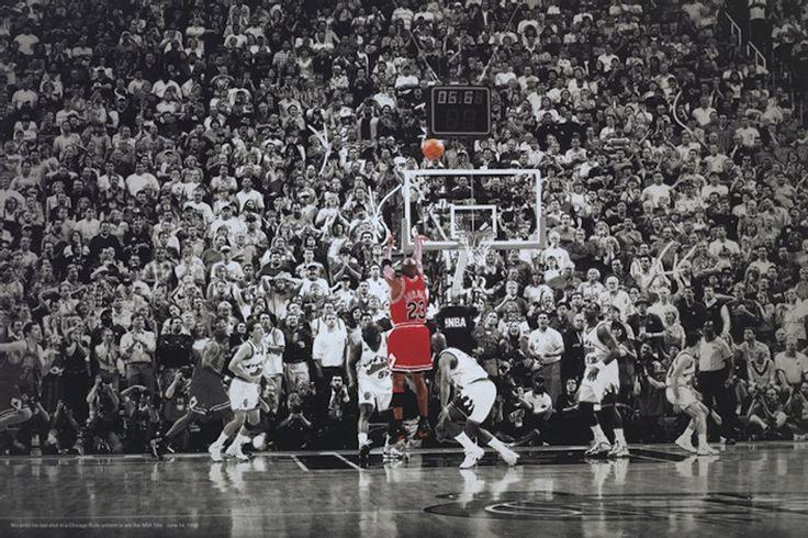 Michael Jordan Title Winning Last Shot Poster