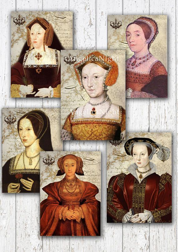 Six Wives Of Henry Viii 6 Tag Label Aceo Sized Designs