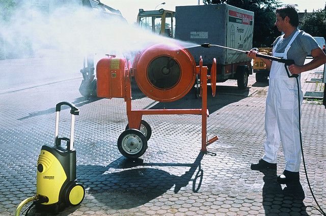 Karcher HD series cold water pressure washers at work in the construction industry. To purchase your next hot or cold water pressure washer please contact Dan Swede at Industrial Cleaning Equipment and Supply 800-731-7789 or dan@ices.net   Steam Pressure Washer