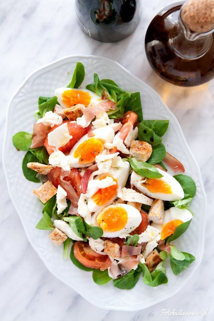 Chicken, Black Forest Ham, Egg and Mozzarella Salad.