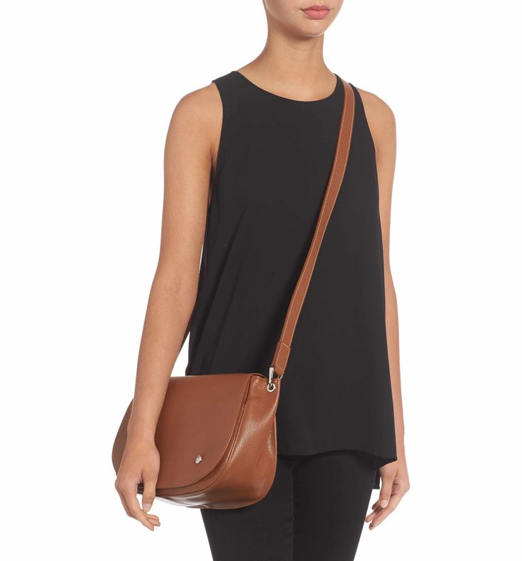 Main Image - Longchamp Small Le Foulonne Leather Saddle Bag