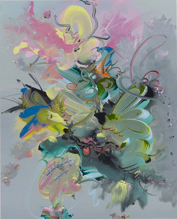 FIONA RAE Figment 2i, 2016 Oil on canvas 61 x 49.5 cm