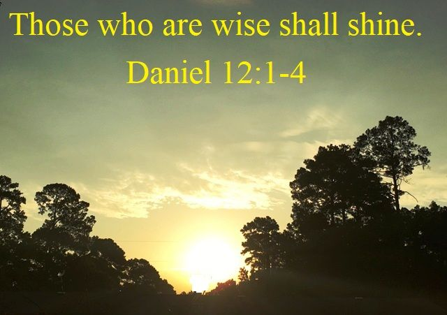God Morning from Trinity, TX Today is Thursday September 28, 2017  Day 271 on the 2017 Journey  Make It A Great Day, Everyday! Those who are wise shall shine.  Today's Scripture: Daniel 12:1-4 https://www.biblegateway.com/passage/?search=+Daniel+12%3A1-4+&version=NKJV Like the brightness of the firmament,...  Inspirational Song https://youtu.be/jGarfDEVWDs