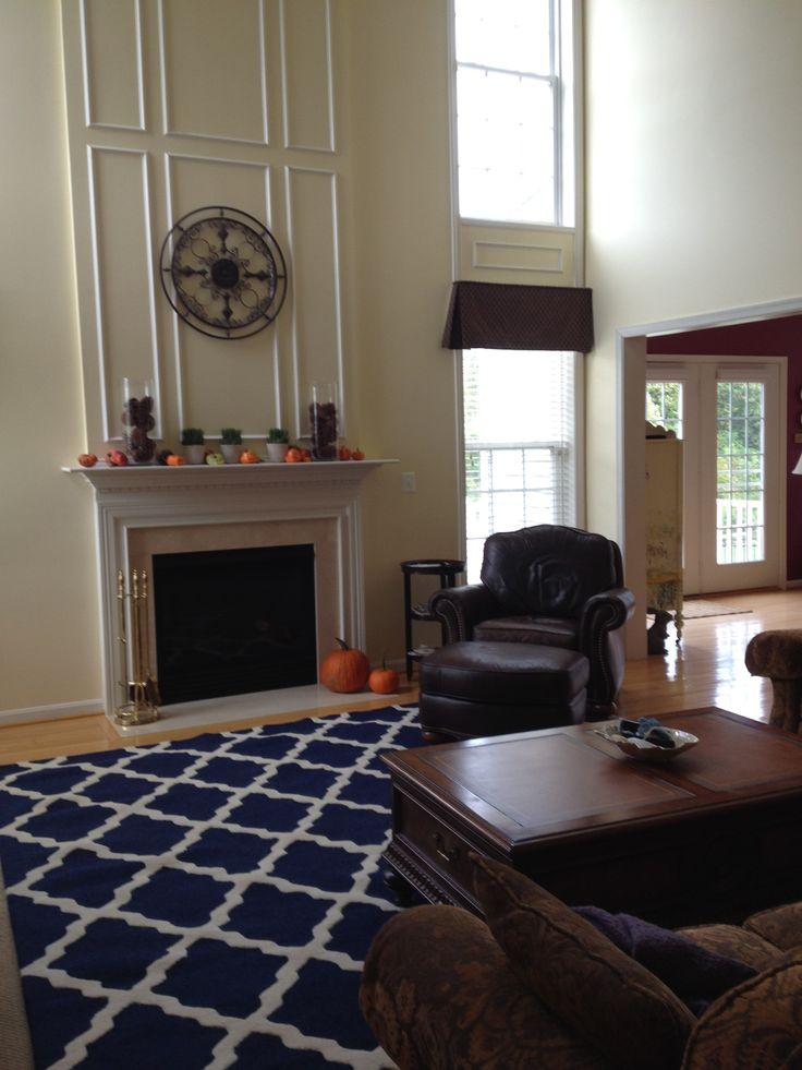 Navy graphic rug family room rugs in living room - Navy rug living room ...