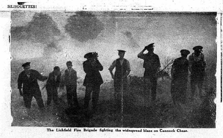 Lichfield Fire Brigade Summer 1935 - Cannock Chase