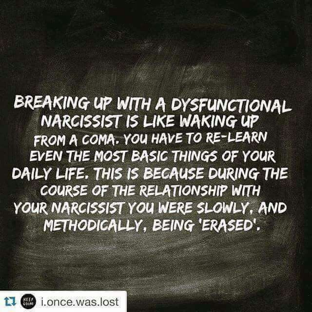 Breaking up with a dysfunctional narcissist.