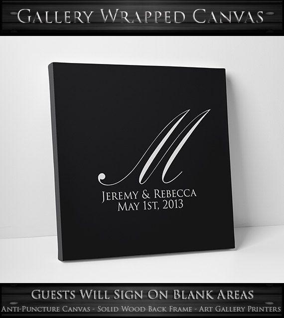 Wedding Canvas Guest Book Alternative // Custom by alphabetcanvas