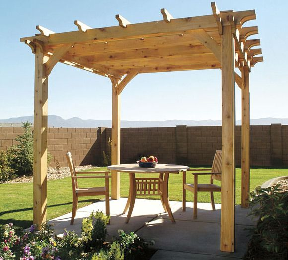 How to Build a Backyard Pergola: Simple DIY Woodworking Project  Step-by step plans to make an arbor-like cedar structure, with 3D animation and master-level blueprints