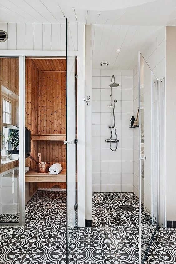 I could have a bathtub... or I could have a sauna in the master bath