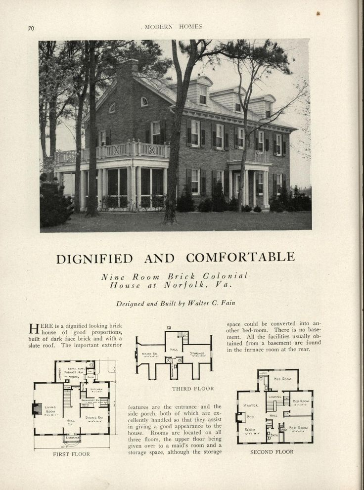 Modern Homes: Their Design And Construction By American Builder Publishing  Corp. Published 1931 272 P.