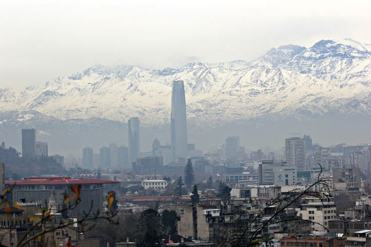 View of Santiago from Cerro Santa Lucia