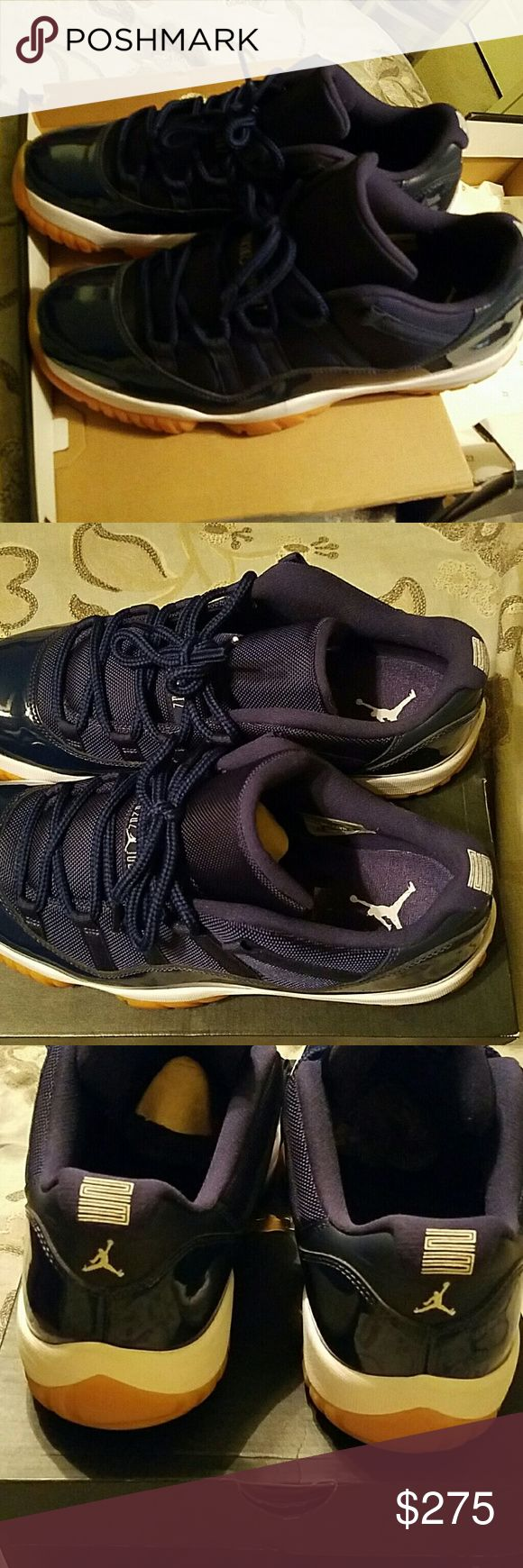JORDAN LOWS 🏁MAKE OFFER🏁 Blue gum bottoms. Excellent condition. Worn only a few times. Maybe three times worn. Moving and need gone. Check other post. Need gone also....moving! My son corrected me!!!lol!  ●♢●♢USE OFFER BUTTON♢●♢● Shoes Athletic Shoes