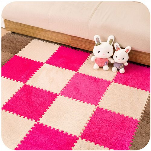 30*30CM Living Room Bedroom Children Soft Patchwork Carpet Magic Jigsaw Splice Puzzle Climbing Baby Mat Play Game Floor Rug