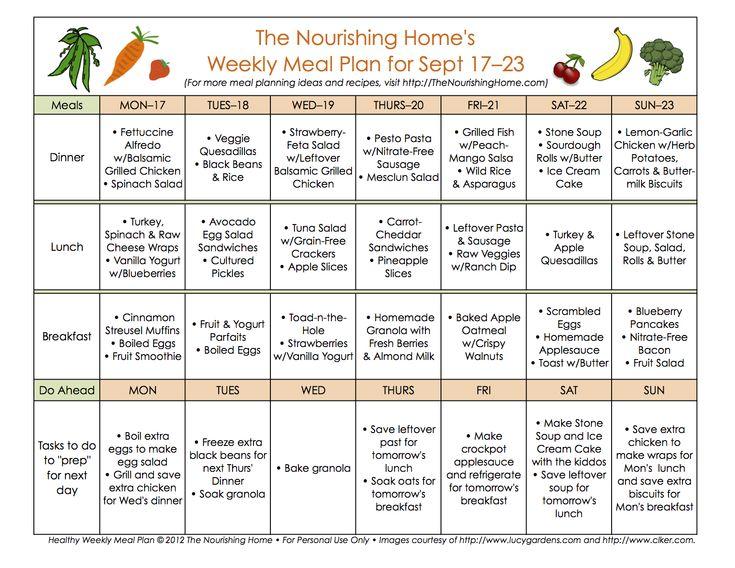 LOVE her free Real Food menu plans! Bi Weekly Meal Plans @thebettemom