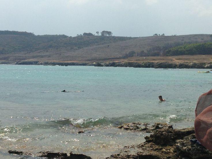 Baia Dell'Orte, Otranto - nelle vicinanze anche la famosa ex cava di bauxite. Fondali molto belli per gli amanti delle immersioni.
