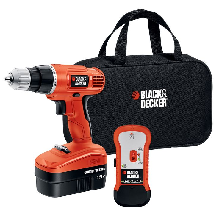 & Decker 18V Cordless Drill and Bit