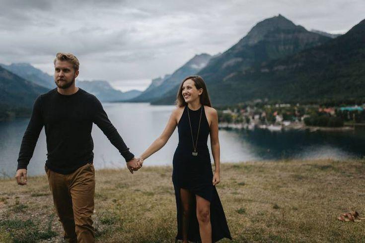 Waterton Lakes National Park Engagement // Jenn & Mike | Waterton Park Engagement