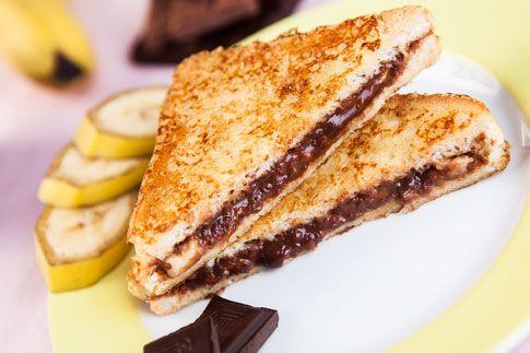 Francouzský toast s čokoládou a banánem | angelico.blog.cz