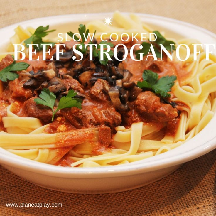 Nothing, and I mean nothing, beats this delicious slow cooker Beef Stroganoff.