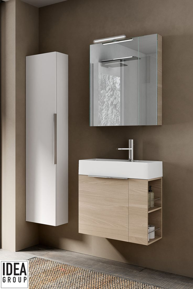 This suspended vanity unit reveals its outstanding functional creativity. #MyTime #Ideagroup #Design