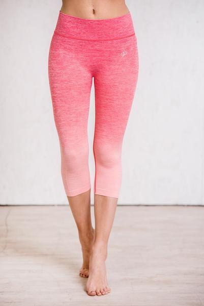 Gravity Ombre Activewear Leggings (Pink)
