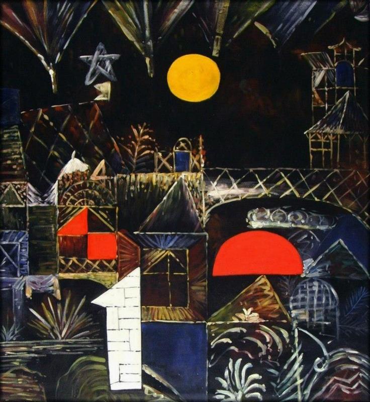 Paul Klee, (Münchenbuchsee, 18 dicembre 1879 – Muralto, 29 giugno 1940), Luna Nascente e Tramonto.(1919)
