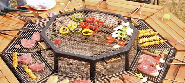 JAG Grill table - Everyone's the Grillmaster At this BBQ Picnic Table - I would love one of these in my backyard