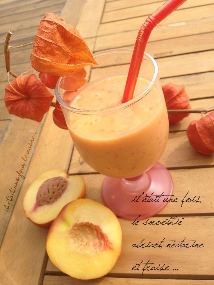 Smoothie Abricot, Nectarine et Fraise