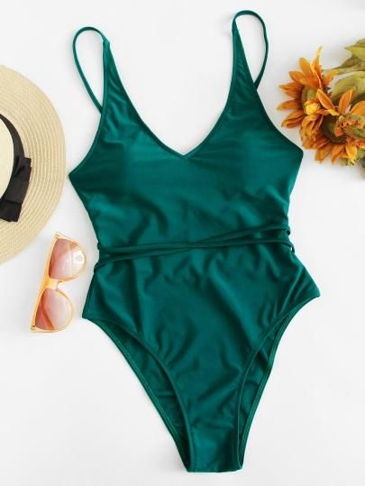 287c631b6f SHEIN Twist Detail Solid Swimsuit....swimsuits modest,swimsuits one piece, swimwear,Women's Swimwear Swimwear,beachwear,clothing,holiday  gifts,spring,summer ...