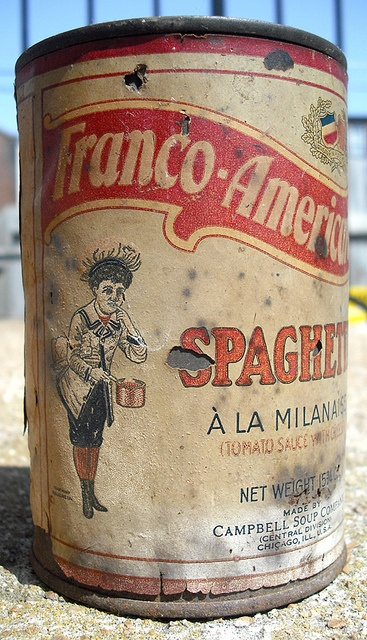 Vintage Franco-American Spaghetti Can Campbell Soup Company by gregg_koenig, via Flickr