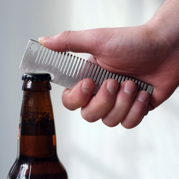 This high quality stainless steel comb is ideal for tossing in your back pocket on a daily basis. Not only will it keep your hair in place when you're out on the town, but it will also crack any beers you might be enjoying.