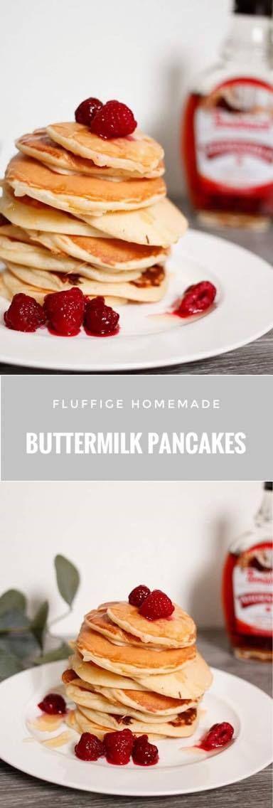 Was gehört zu einem perfekten Frühstück am Sonntagmorgen? Na klar, fluffige Pancakes. Diese kleinen Eierkuchen sind im Handumdrehen fertig und gelingen immer. Probiere also gleich morgen das Rezept für deine Buttermilk Pancakes!