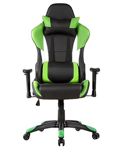 gaming chair companies metal accessories k a company style high back racing ergonomic office leather pu swivel computer executive 360 degree 5 wheels mesh seat green