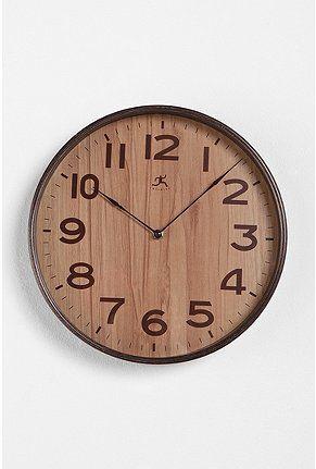 wood grain clock: Wood Grains, Urban Outfitters, Cool Clocks, Kitchens Wall, Wood Clocks, Wooden Clocks, Wall Clocks, Offices Wall, Grains Clocks