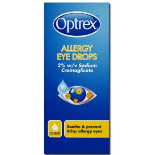 Optrex Allergy Eyes Eyedrops soothe and prevent itchy eyes with anti-inflammatory and anti-allergy ingredients. These eye drops soothe itchy and red eyes, for fast-acting and effective allergy relief.