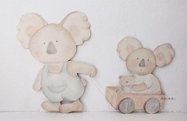Silueta de madera. Decoración infantil by el rincón del arte