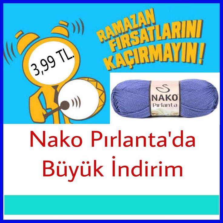 ���� Nako Pırlanta ����. Yaz ve Ramazan Kampanyası.  #pinyponbebek #pinyponbebekyünevi #nako #nakopırlanta #yün #yumak #iplik #elişi #handcraft #yarn http://turkrazzi.com/ipost/1521838916730602710/?code=BUeqG6FF8TW