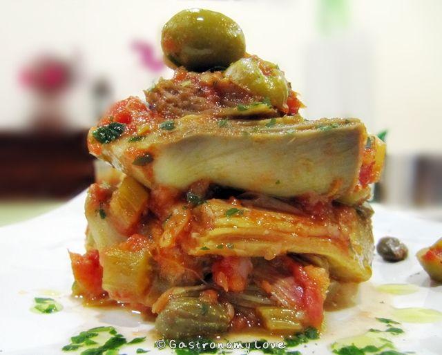 CAPONATA DI CARCIOFI ALLA SICILIANA   Gastronomy Love