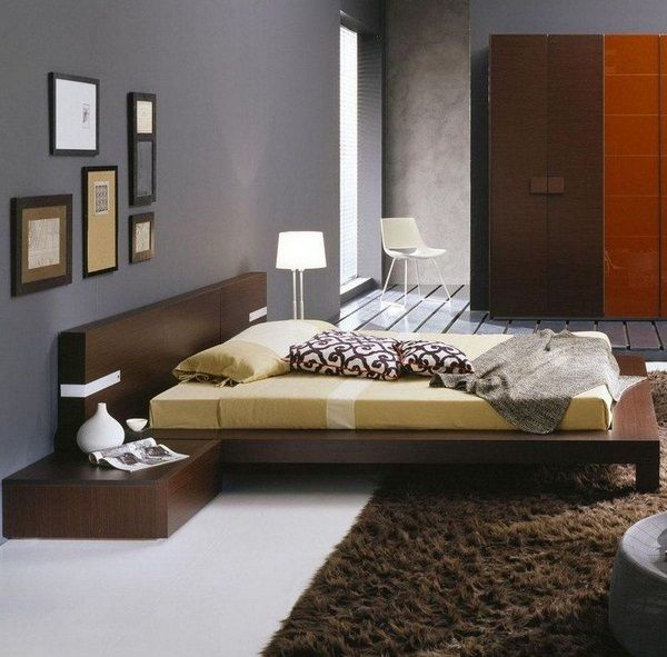 Bedroom Decor College Dark Bedroom Interior Design Bedroom With Green Accent Wall Amazing Interior Design Bedroom For Kids: What Colors Go Well With Dark Brown Wenge Furniture