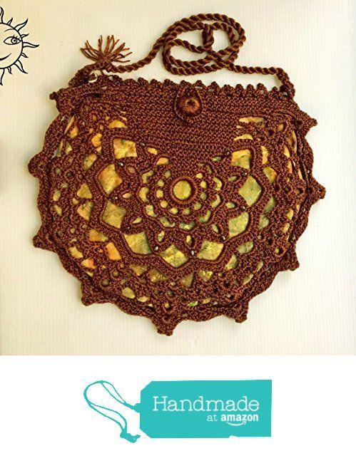 BORSE SOLELUNA - borsetta marrone ad uncinetto - pezzo unico fatto a mano da Soleluna handmade creations https://www.amazon.it/dp/B06ZXVT3ZP/ref=hnd_sw_r_pi_dp_Xni.ybQEJWP34 #handmadeatamazon