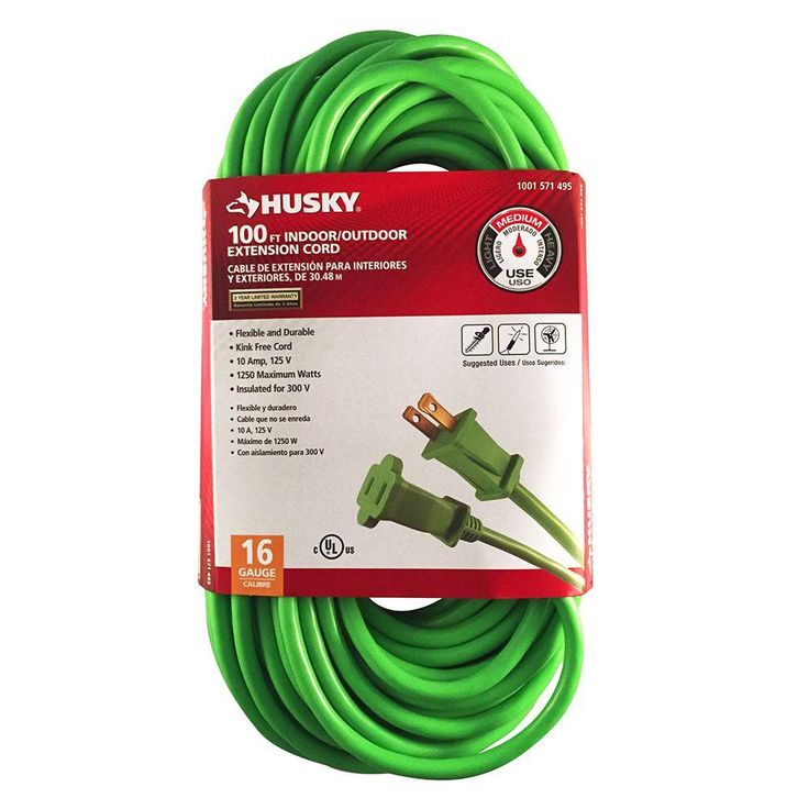 Husky 100 ft. 16/2 Outdoor Extension Cord