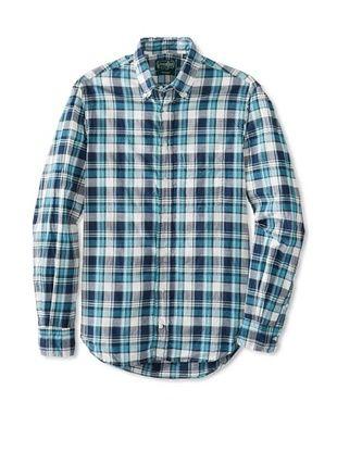 76% OFF Gitman Vintage Men's Madras Plaid Button Down Shirt (Multi)